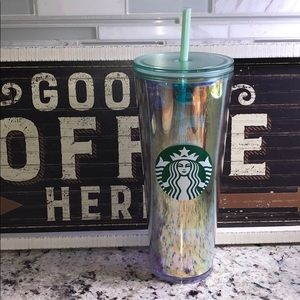 Starbucks Iridescent Mermaid unicorn tumbler